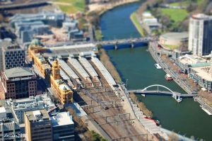 Melbourne City View Tilt Shift by daniellepowell82