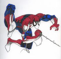 spiderman by facelessangel