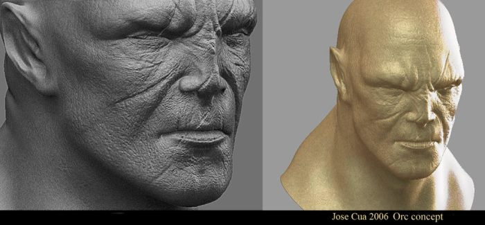 Orc Halfbreed Details by Cok3ster