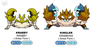 Anker Regional Form - Krabby and Kingler