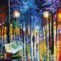 Little Steps by Leonid Afremov by Leonidafremov