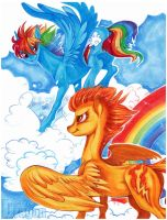 Rainbow and Fire by Aspendragon