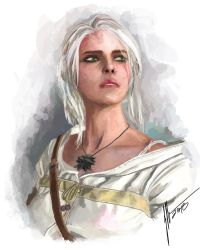 Ciri from Witcher by j2Artist