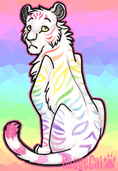 Rainbow Tigress :D by therougecat