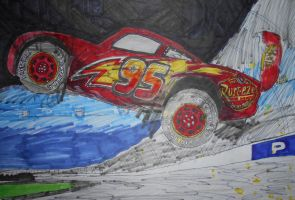 Cars 3 Lightning McQueen's crash by sgtjack2016