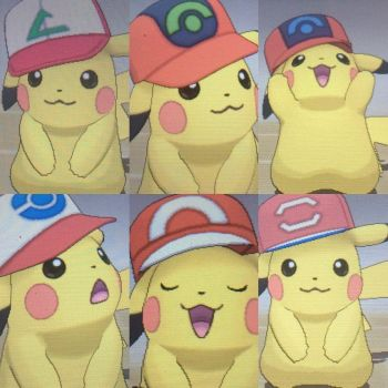 Ash Hat Pikachu's for trade - OPEN by ShinyPokemonCenter