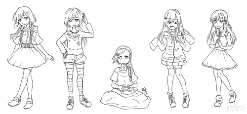ootd sketches by phoebe-nyan