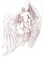 angel tattoo by gregory-titus