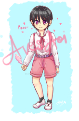 pink shouta boy by AvesAoi