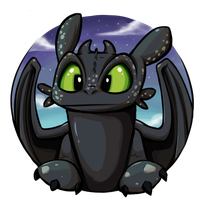 Toothless by wigmania