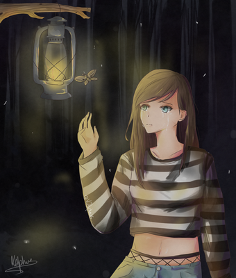 the moth and the lamp //vent// by Kalphus
