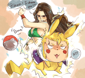 Cana and  Laxus - Request on Tumblr by blanania