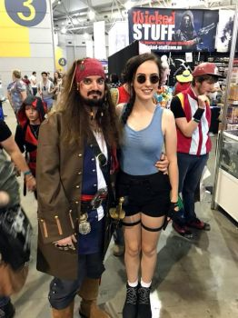 Captain Jack Sparrow And Lara Croft (Tomb Raider) by JUMBOLA