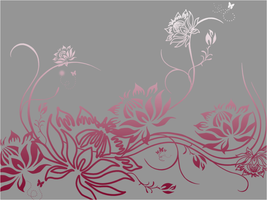 Floral Wallpaper I by DecemberInstinct