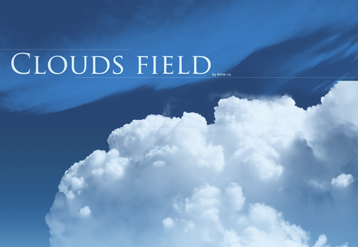 Brushes - Clouds - field by Kime-ra