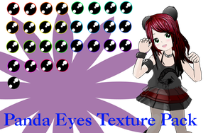 MMD Panda Eyes Texture Pack by MMD-Nay-PMD