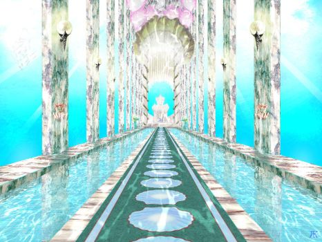 Underwater Palace Throne Room by ArthurK87