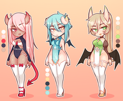 Sweet Succubus Adoptable Batch (CLOSED) by Kimo-C-Soda