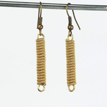 Guitar String Jewelry- Brass Earrings by Tanith-Rohe