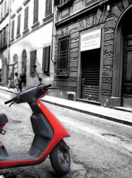 The red Vespa... by anyama
