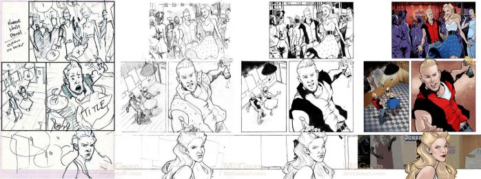 The Night The Dead Rocked Texas - Pg 1 Process by mcguan