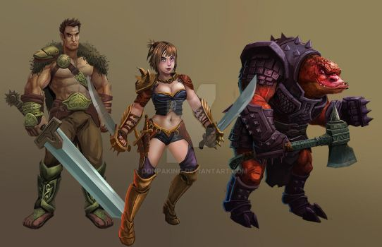 Character Design for 2d game by donpaking