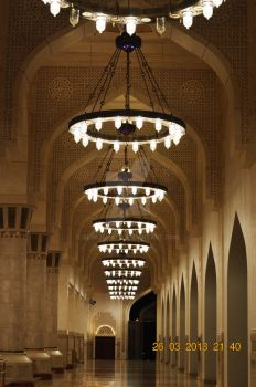 State Mosque of Qatar - Front Corridor by alimjshafi