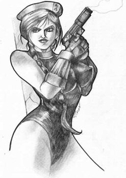 Cammy-streetfighter pencil by simon-artist