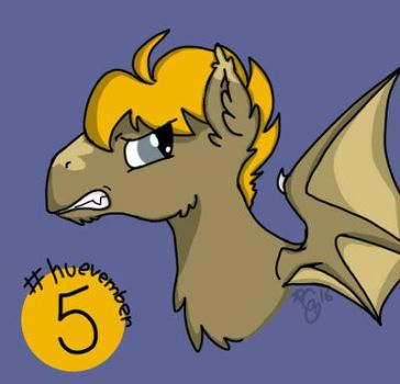 #huevember Day 5: Unnamed Batpony Stallion by Rabies-the-Squirrel