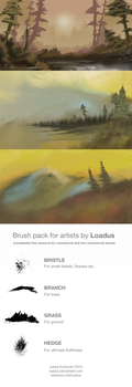 Nature Brushes set by Loadus