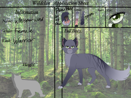 Whisperwind WildClan Application by Tracing-the-Skye