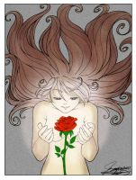 The Rose - LineArt   by ~InkedHeartSA by Middeth