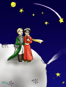 The Little Prince and His Rose by art-hobbit