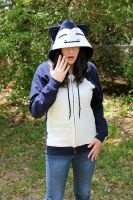Snorlax Inspired Zipper Hoodie by CosplayCousins