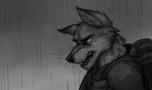 Rainy Wolf by Temiree