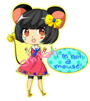 Mouse girl |RE: adoptable CLOSED| + gift! by Crhikari