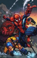 Avenging Spider Man by Mad colored by SplashColors