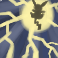 Pikachu used Thunderbolt by fuzzy-ren