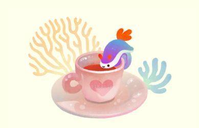 Coral Coffee by pikaole