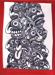 Tower of Faces by watchers