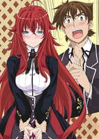 Rias and Issei. DxD V22 by TGxKing