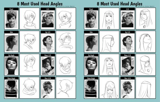8 Most Used Head Angles in Storytelling by betsyillustration