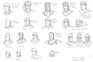 The Cast of Hamlet by DWestmoore