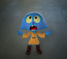 Zbrush Doodle: Day 1059 - Shock by UnexpectedToy