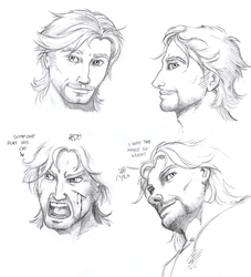 ''Daily Sketch'' - Faces Practice by 0laffson