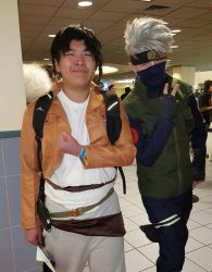 Ohayocon 2016: Levi hanging with Kakashi by PokeSmosher365