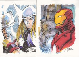 Marker:Thor and Iron Man by KidNotorious