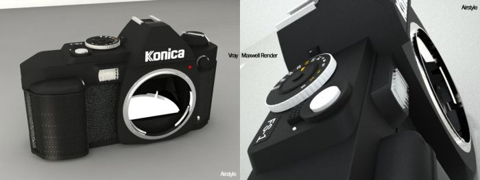 Konica Minolta FS-1 SLR Camera by airstyle
