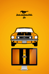 1968 Ford musatng GT by wall-e-ps