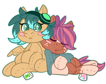 CC and GG Plush Sticker Art by Mdragonflame